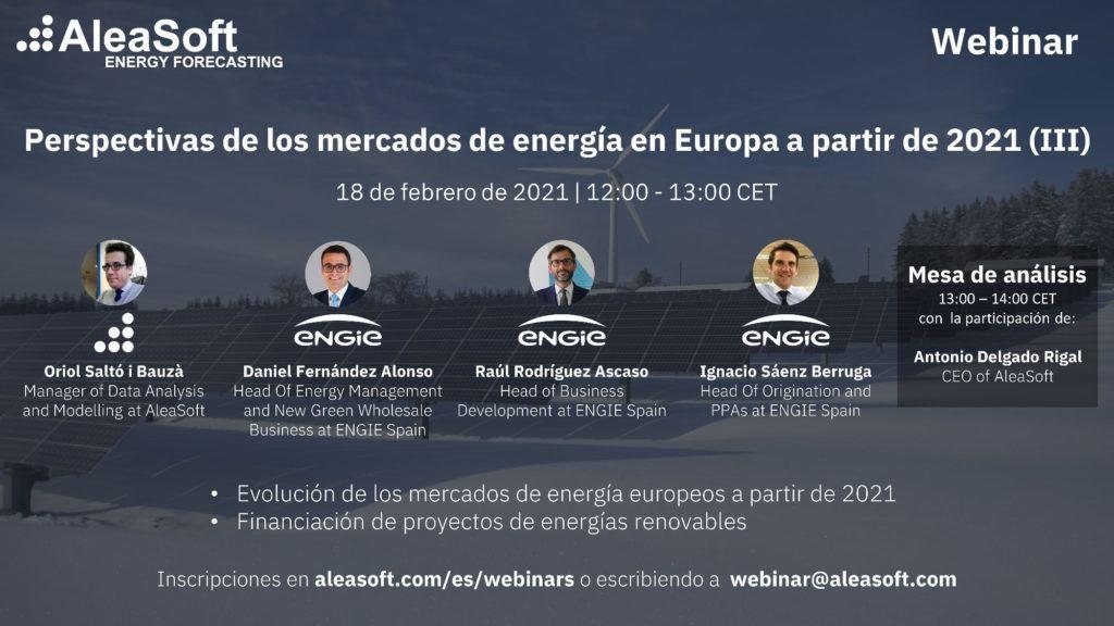Foto de Webinar: Perspectivas de los mercados de energía en Europa.