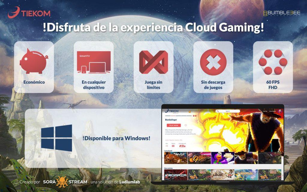 Foto de Servicio Cloud Gaming Tiekom + Ludium