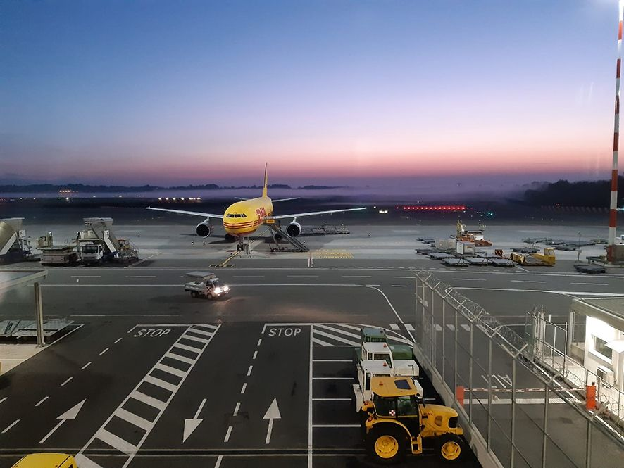 Foto de Avión de DHL en Malpensa